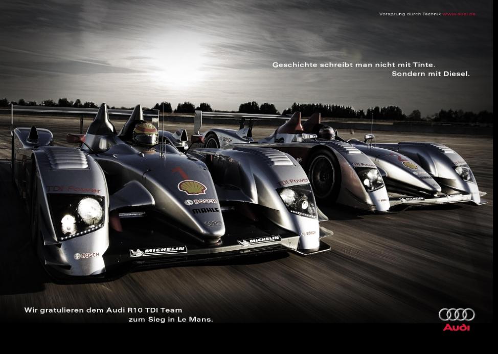 Glückwunschanzeige Audi Le Mans